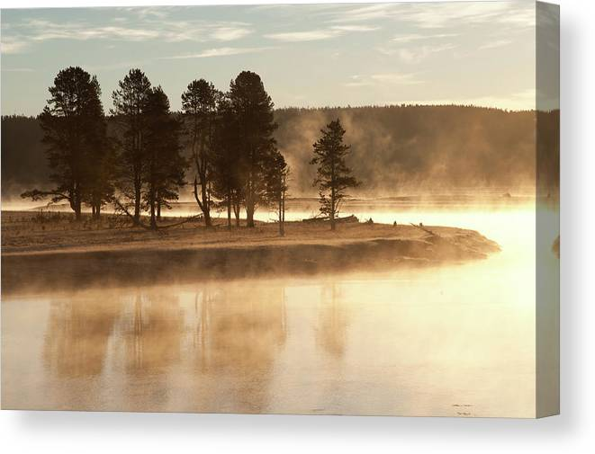 Scenics Canvas Print featuring the photograph Morning Mists by Corinna Stoeffl, Stoeffl Photography