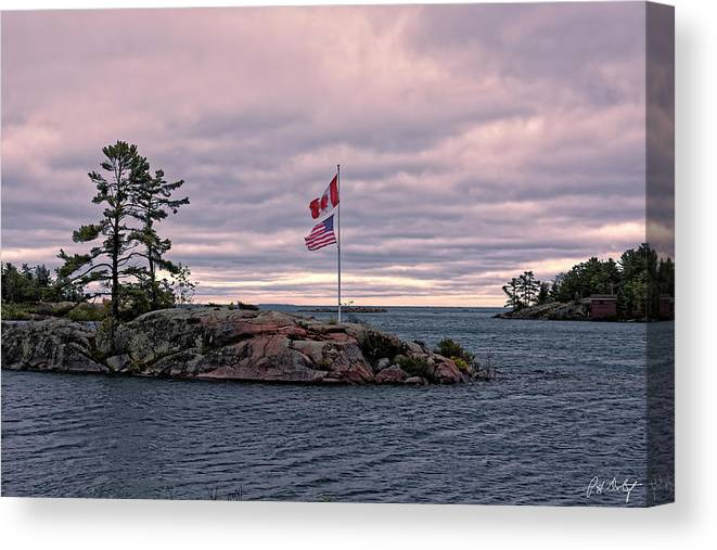 Autumn Canvas Print featuring the photograph Morning On Georgian Bay by Phill Doherty
