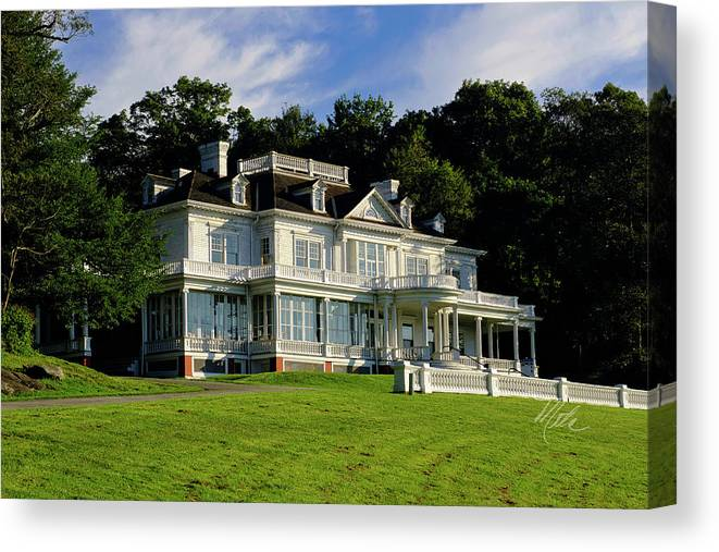 Moses Cone Manor Canvas Print featuring the photograph Moses Cone Manor by Meta Gatschenberger