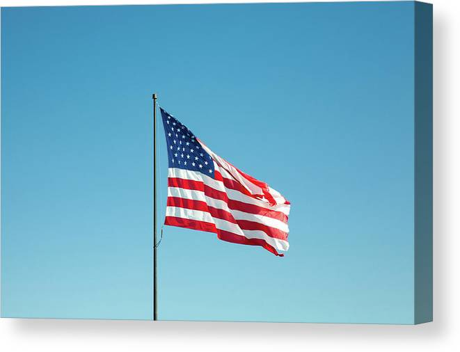 American Flag Canvas Print featuring the photograph Old Glory by Todd Klassy