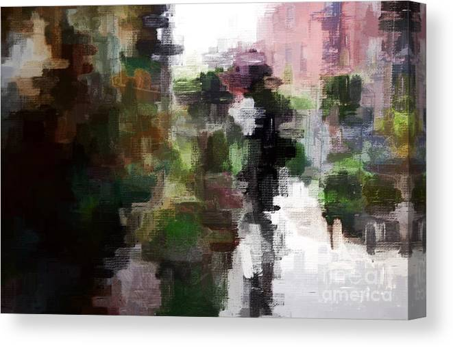 Abstract Canvas Print featuring the digital art One Shadow by Eddy Mann