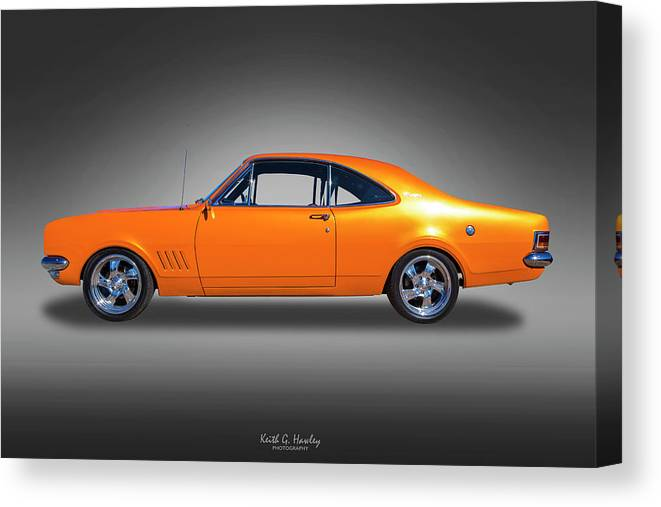 Car Canvas Print featuring the photograph Orange Glow by Keith Hawley
