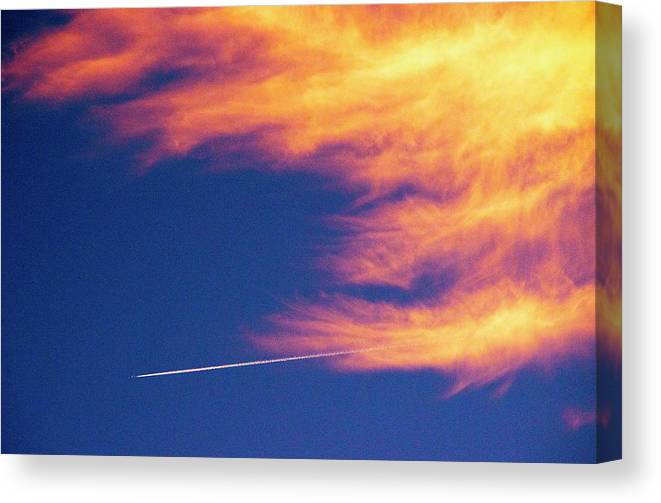 D1-l-1076-d Canvas Print featuring the photograph Out Racing The Devil by Paul W Faust - Impressions of Light