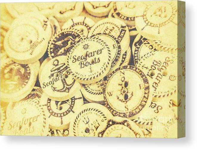 Buttons Canvas Print featuring the photograph Port Holes And Anchor Buttons by Jorgo Photography - Wall Art Gallery