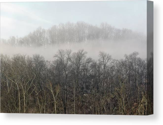 Billy Goat Trail Canvas Print featuring the photograph Potomac Fog by Francis Sullivan