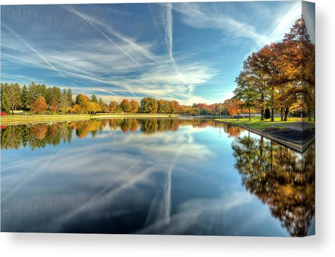 Roosevelt Lake Autumn Scenic Edison New Jersey by Geraldine Scull