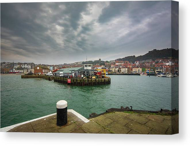 Scarborough Canvas Print featuring the mixed media Scarborough Harbour by Smart Aviation