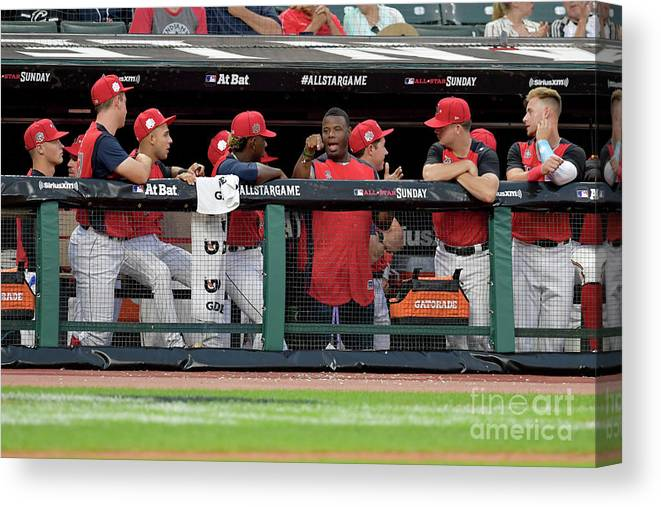 People Canvas Print featuring the photograph Siriusxm All-star Futures Game by Jason Miller