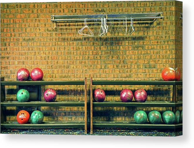 Coathanger Canvas Print featuring the photograph Still Life With No Glow In Dark Balls by E. Treffly Coyne