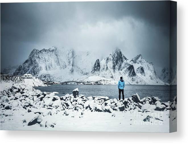Kremsdorf Canvas Print featuring the photograph Storm Of Solitude by Evelina Kremsdorf