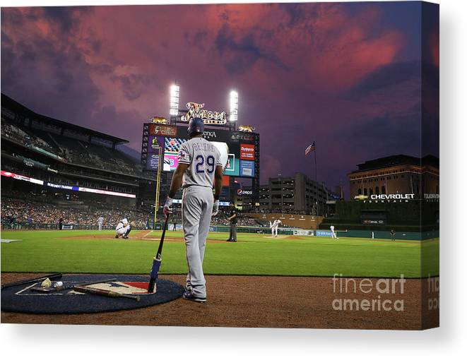 Adrian Beltre Canvas Print featuring the photograph Texas Rangers V Detroit Tigers by Gregory Shamus