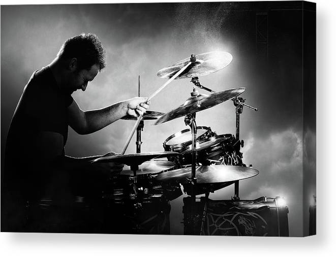 Drummer Canvas Print featuring the photograph The Drummer by Johan Swanepoel