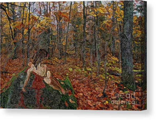 Dark Canvas Print featuring the painting The Sacrifice by C L Lassila