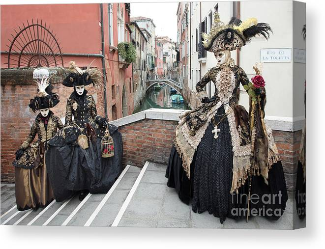 Carnival Canvas Print featuring the photograph The Streets Of Venice by Linda D Lester