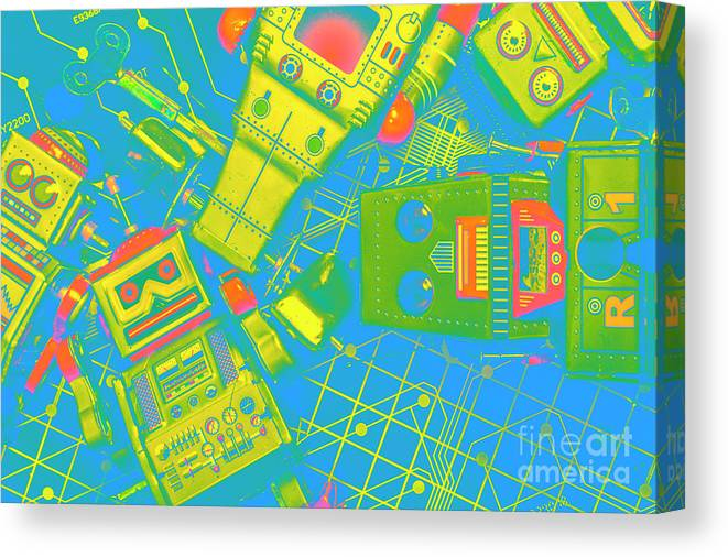 Electronics Canvas Print featuring the photograph The Wonderful Future - A Playtime Pretend by Jorgo Photography - Wall Art Gallery