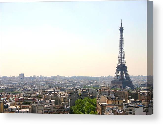 Eiffel Tower Canvas Print featuring the photograph Tower Eiffel by All Right Rs