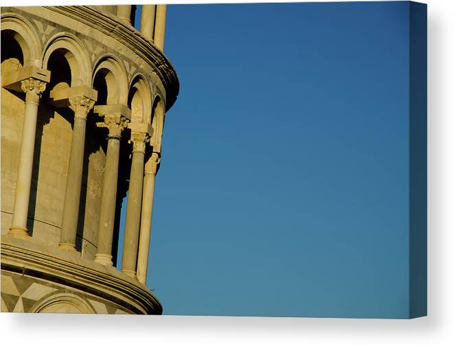 Arch Canvas Print featuring the photograph Tower Of Pisa by Mats Silvan