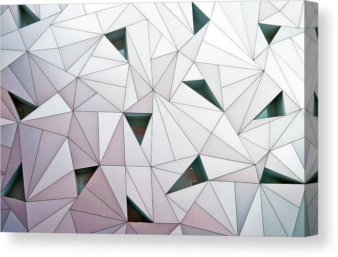 Madrid Canvas Print featuring the photograph Triangulation 1 by Linda Wride