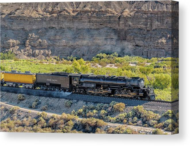 Afton Canyon Canvas Print featuring the photograph Up4014 Big Boy 1 by Jim Thompson