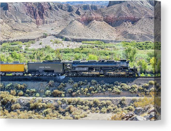 Afton Canyon Canvas Print featuring the photograph Up4014 Big Boy by Jim Thompson
