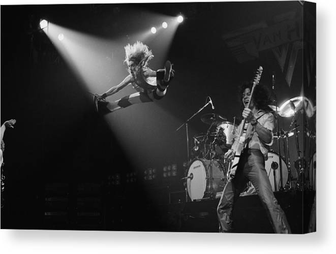 Singer Canvas Print featuring the photograph Van Halen At The Rainbow by Fin Costello