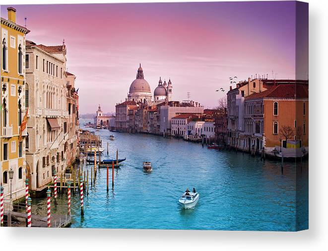 Arch Canvas Print featuring the photograph Venice Canale Grande Italy by Dominic Kamp Photography