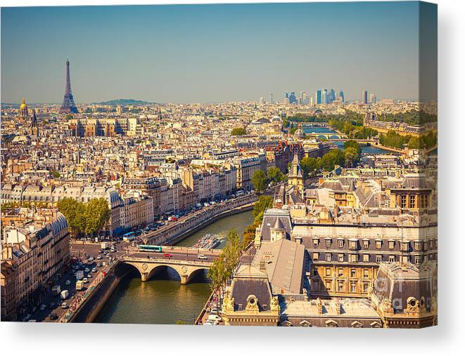 Beauty Canvas Print featuring the photograph View On Paris Form Notre Dame Cathedral by S.borisov