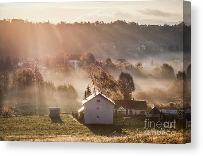 Kremsdorf Canvas Print featuring the photograph Whispers by Evelina Kremsdorf