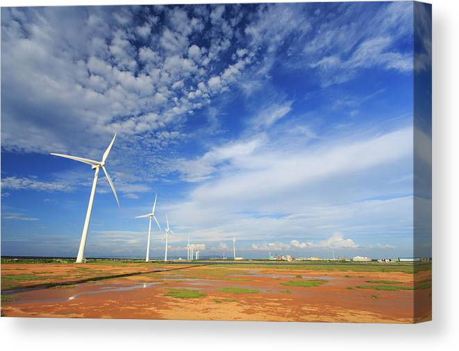 How Do You Photograph Wind >> Wind Mills And Good Weather Canvas Print Canvas Art By Samyaoo