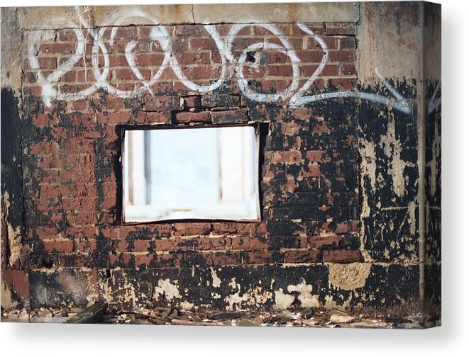 Landscape Canvas Print featuring the photograph Window Into The Soul by Jamie Alicia Ary
