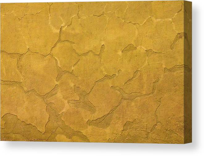 Weathered Canvas Print featuring the photograph Yellow Wall by Gerard Hermand