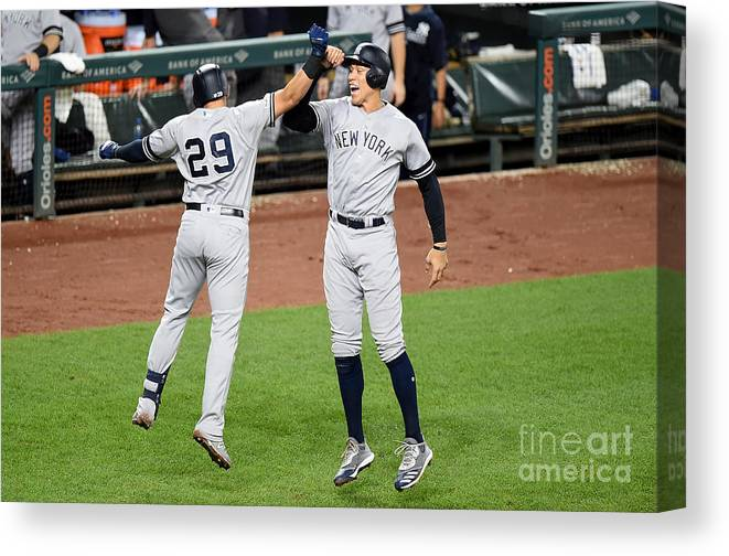 People Canvas Print featuring the photograph Aaron Judge by Greg Fiume
