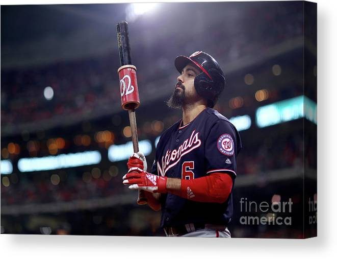 People Canvas Print featuring the photograph Anthony Rendon by Mike Ehrmann