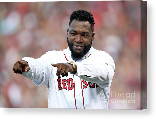 People Canvas Print featuring the photograph David Ortiz by Adam Glanzman