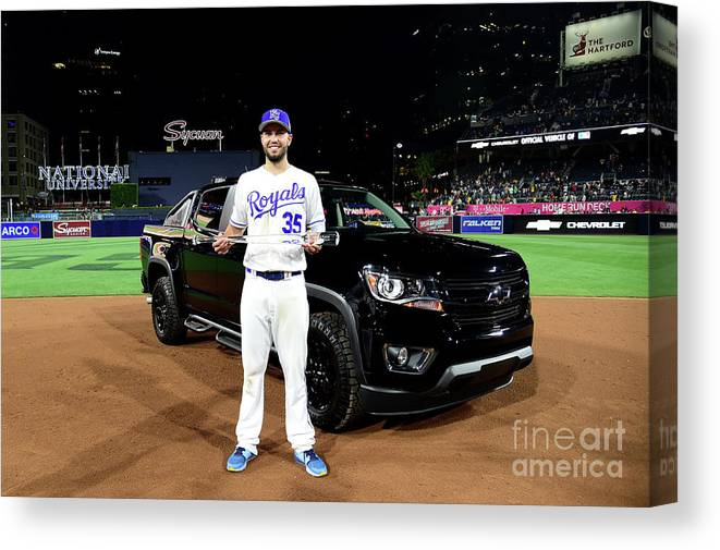 People Canvas Print featuring the photograph Eric Hosmer by Harry How