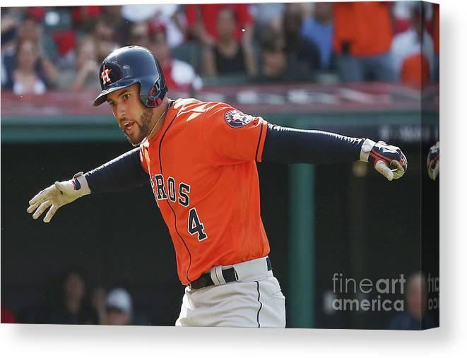 Three Quarter Length Canvas Print featuring the photograph George Springer by Gregory Shamus