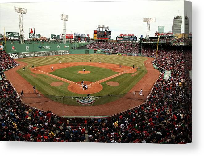 American League Baseball Canvas Print featuring the photograph Jake Peavy by Jared Wickerham