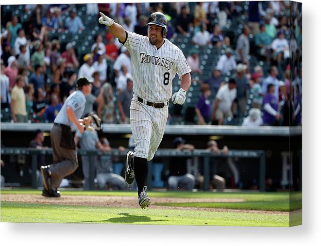People Canvas Print featuring the photograph Michael Mckenry by Doug Pensinger