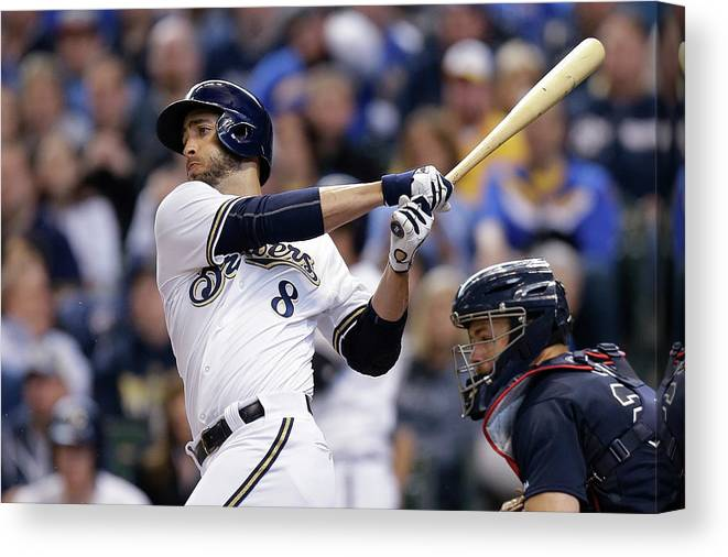 Wisconsin Canvas Print featuring the photograph Ryan Braun by Mike Mcginnis