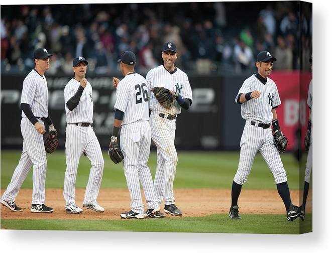 East Canvas Print featuring the photograph Derek Jeter by Rob Tringali