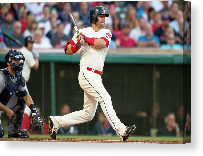 Second Inning Canvas Print featuring the photograph Nick Swisher by Jason Miller