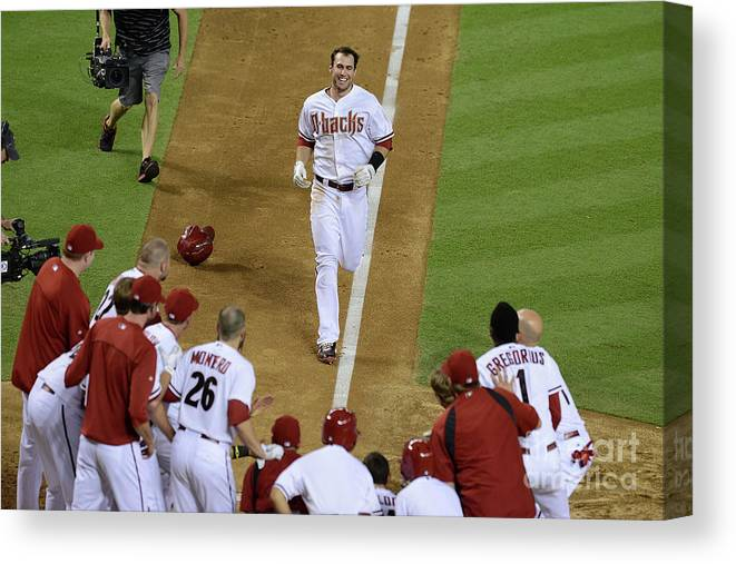 American League Baseball Canvas Print featuring the photograph Paul Goldschmidt by Norm Hall