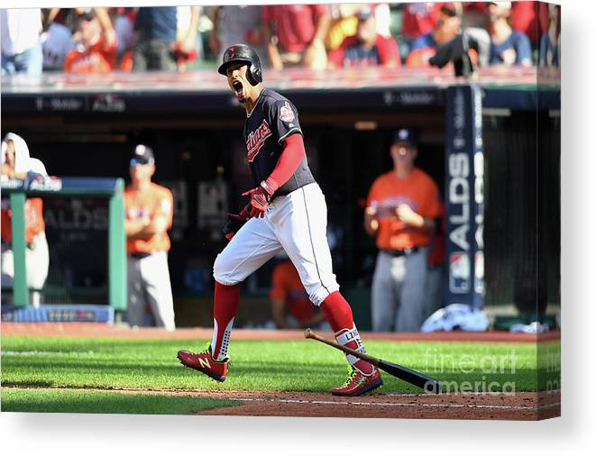 People Canvas Print featuring the photograph Francisco Lindor by Jason Miller