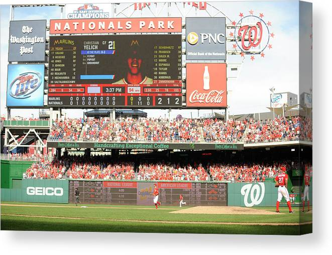 Ball Canvas Print featuring the photograph Jordan Zimmermann by Mitchell Layton