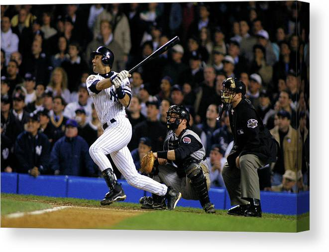 Sport Canvas Print featuring the photograph Derek Jeter by Al Bello