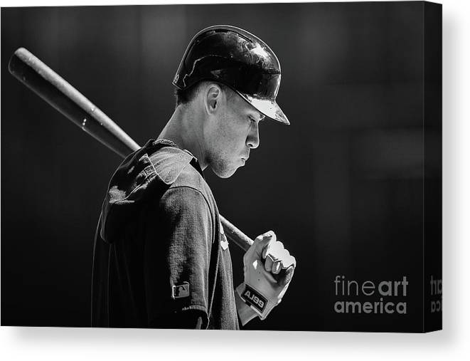 People Canvas Print featuring the photograph Aaron Judge by Dylan Buell