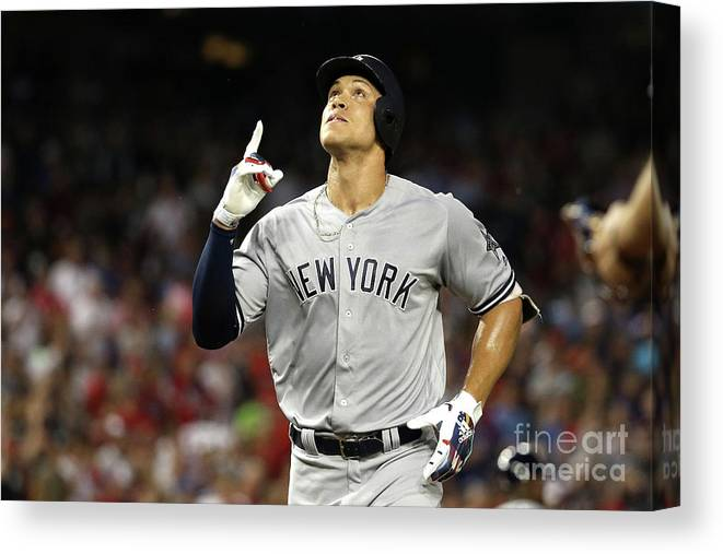 Second Inning Canvas Print featuring the photograph Aaron Judge by Patrick Smith