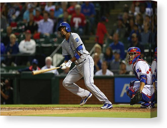 People Canvas Print featuring the photograph Alcides Escobar by Ronald Martinez