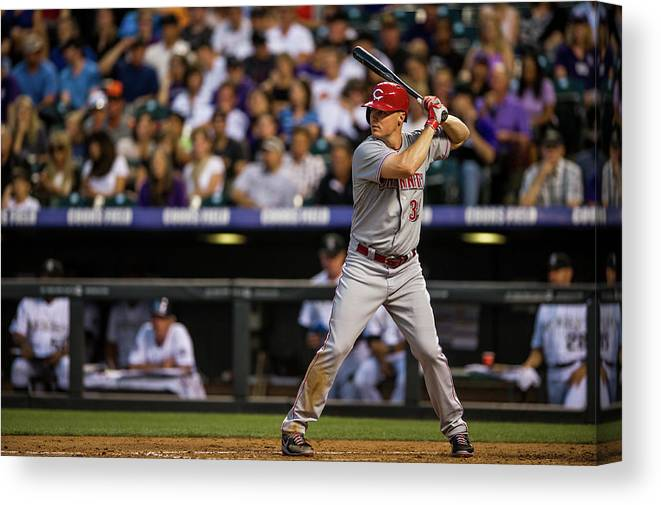 National League Baseball Canvas Print featuring the photograph Bruce Fields by Dustin Bradford