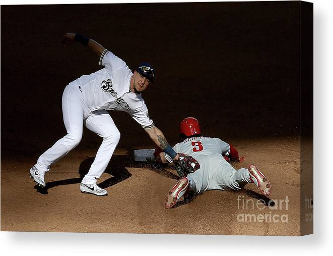 People Canvas Print featuring the photograph Bryce Harper by Dylan Buell